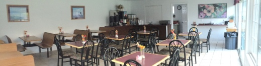 Our large breakfast room where we offer free breakfast